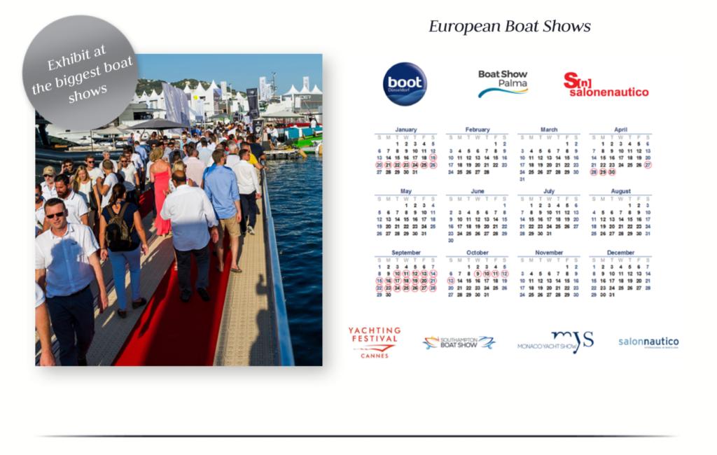 European Boat Show Calendar