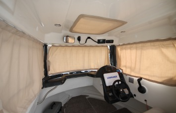 Quicksilver 605 PilotHouse for Sale in Devon - Cabin Curtains