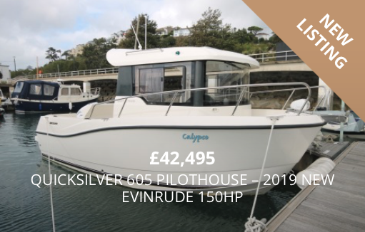 Quicksilver 605 Pilothouse - 2019 NEW Evinrude 150HP for sale in Torquay, Devon