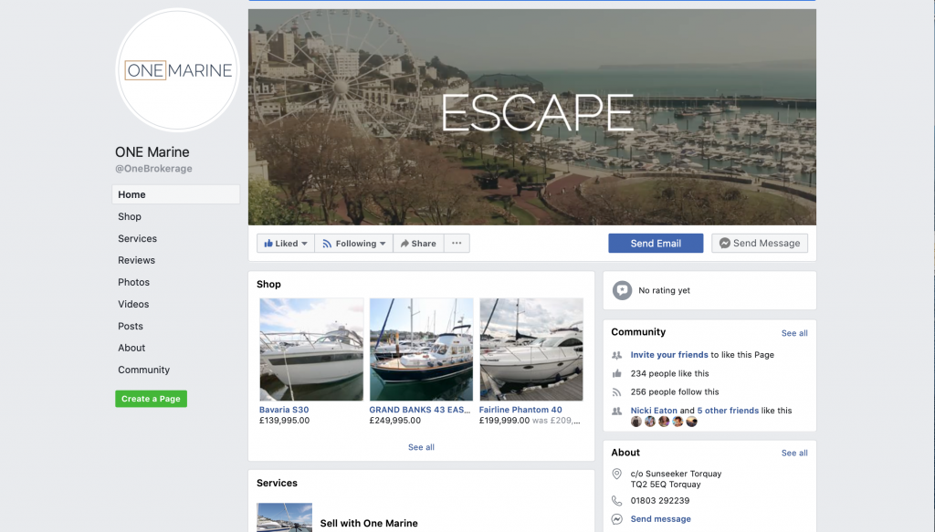 One Marine Facebook page