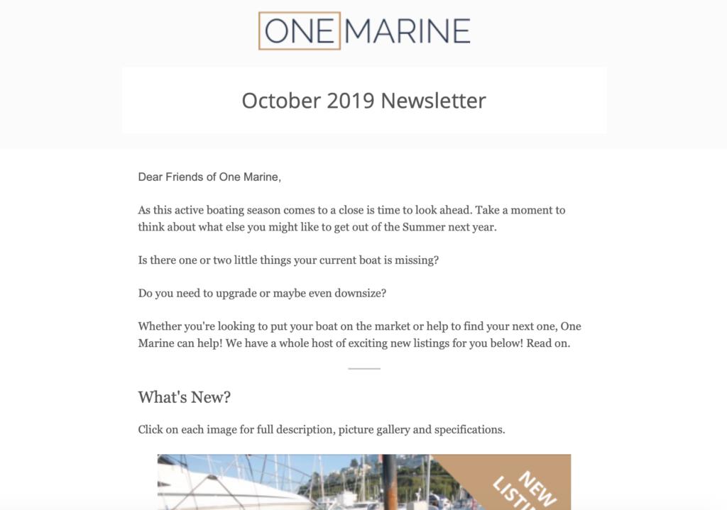 One Marine Newsletter